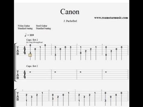 tutorial guitar canon rock acoustic pachelbel s canon in d guitar pro tab for two guitars