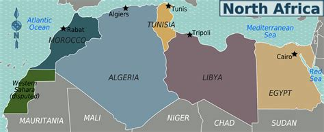 northern africa map africa map outline