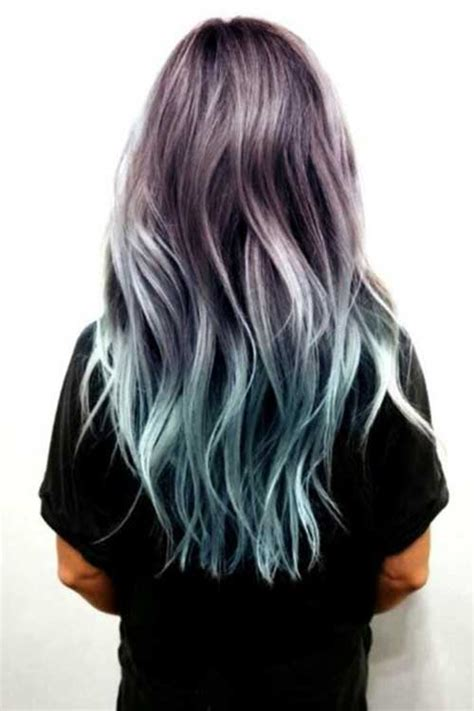 is ombre blue hair ok for older women great ombre colors for long hair long hairstyles 2017