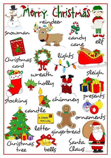 printable christmas pictionary cards merry christmas pictionary worksheet free esl