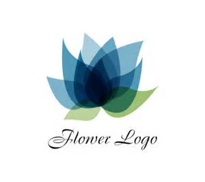 Lotus Flower Logos Lotus Flower Blue Fashion Vector Logo Vector