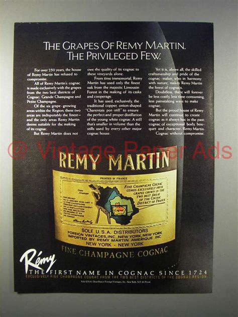 The Privileged Few by 1982 Remy Martin Cognac Ad The Privileged Few