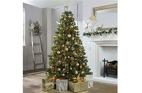 best artificial christmas trees large trees tesco