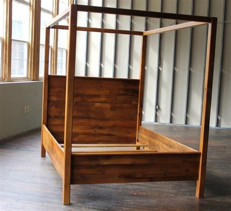 custom canopy bed custom canopy bed from rustic reclaimed pine finished in
