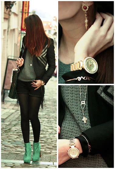 Sweater Blink 183 lorelei zara leather sleeves coat mango leather