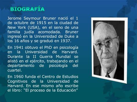 libro el descubrimiento de las biografia de jerome bruner por ver 243 nica tarapues