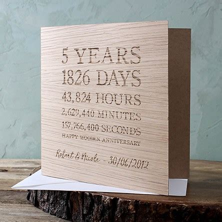 Wood 5th Wedding Anniversary Gifts   GettingPersonal.co.uk