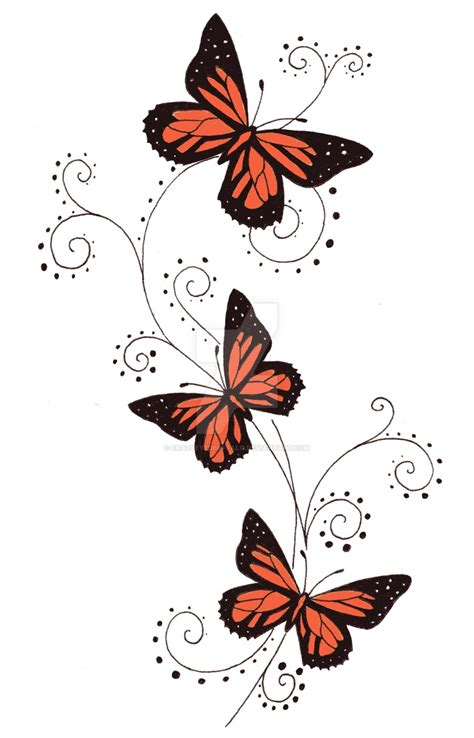orange butterfly swirls by crazyeyedbuffalo on deviantart