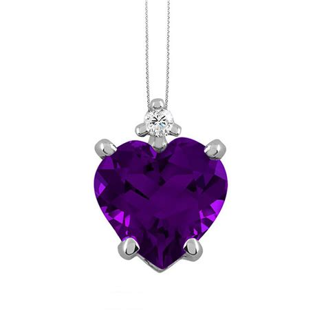 Amethyst & Diamond Pendant Featured by The Jewelry Exchange