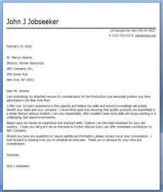 Production Cover Letter by Cover Letter Production Line Worker Resume Downloads