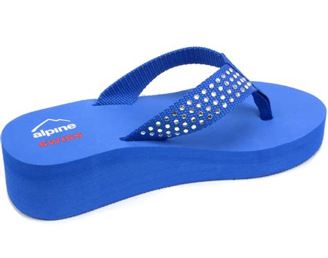 high heel flip flop alpine swiss womens flip flops sandals rhinestone