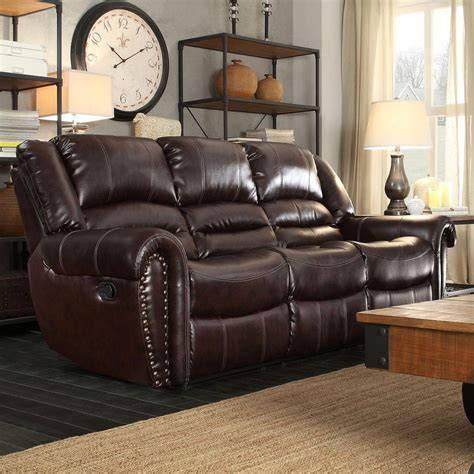 chocolate leather sofa homesullivan merida chocolate leather sofa 409668brw 3
