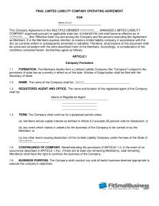 operation agreement llc template how to create an llc operating agreement free templates