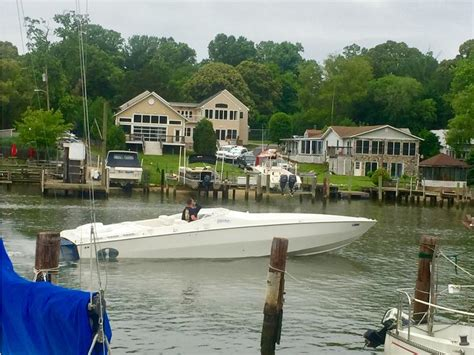 the boat cafe 1990 cigarette cafe racer powerboat for sale in maryland