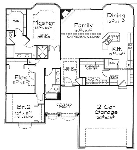 one floor house plans one house plan with choices 40885db