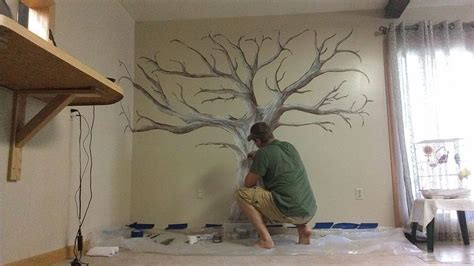how to paint murals on walls painted family tree mural wall gardens painted and murals