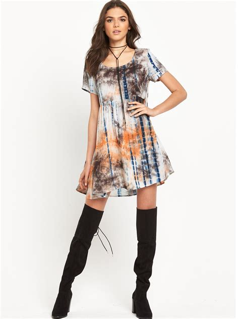 printed swing dress glamorous printed short sleeve swing dress dresslover uk
