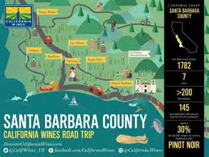 santa barbara on map of california explore santa barbara on a california wines road trip