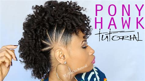 tutorial natural hair styles fun pony hawk curly natural hairstyle video tutorial