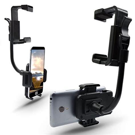 Rear Mirror Smartphone Mount Car Holder Smartphone Holder Mobil car accessories elemart universal smartphone holders car rear view mirror mount holder