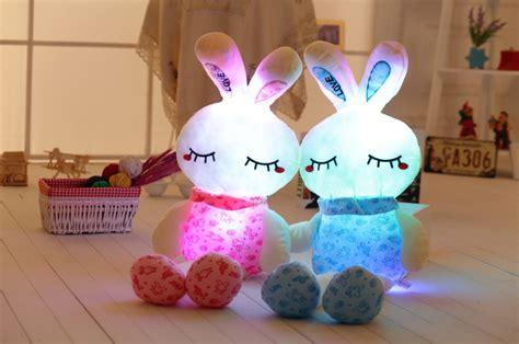 light up plush pillow 75cm 30 luminous stuffed rabbit toy led light up plush