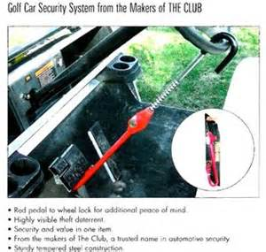 Steering Wheel Lock For Golf Cart Golf Cart Quot The Club Quot Anti Theft Security Steering Wheel