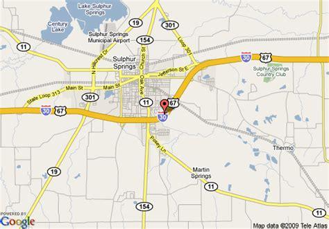 sulphur springs texas map map of inn express hotel suites sulphur springs sulphur springs