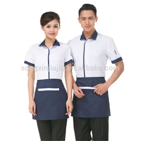 design your own cafe uniform cheap restaurant hotel waitress design server uniform