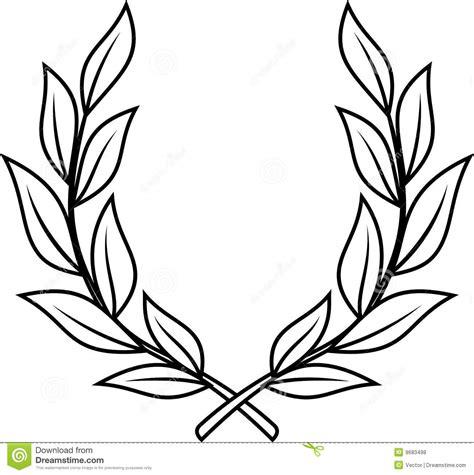laurel wreath vector royalty free stock photos image