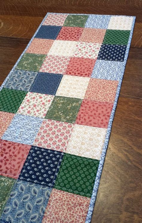 quilted table runner country table runner primitive