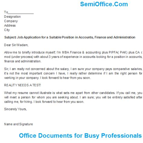 application letter any suitable position application for a suitable position in accounts