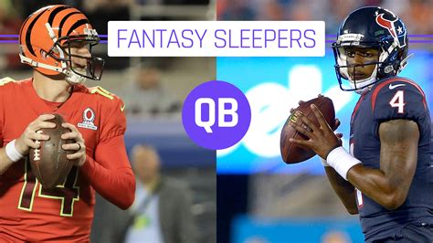 Football Sleepers by Football Sleepers 2017 Quarterbacks Sporting News