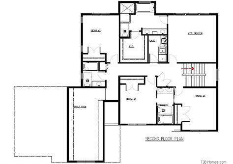 two story floor plans 3 000 sq ft plan 205 tjb