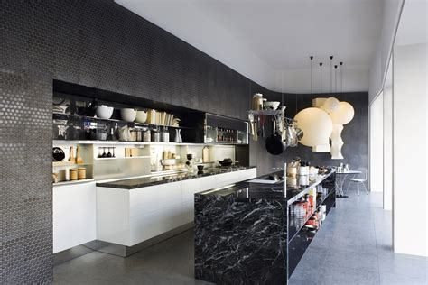 Marble Kitchen Designs | black marble kitchen island design olpos design