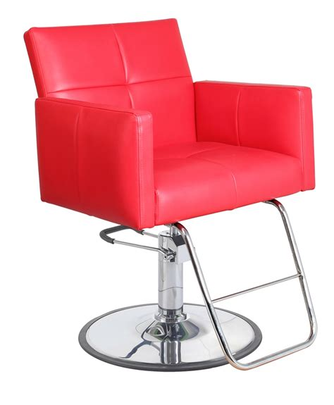 fara red salon chair
