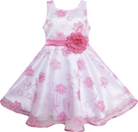 Baju Fashion Costume Kostum Anime Ririchiyo Dress fashion dress pink embroidered flower bow tie tulle 2018 summer