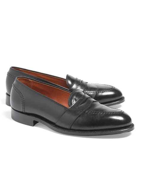 cordovan loafer brothers cordovan low v loafers in black for