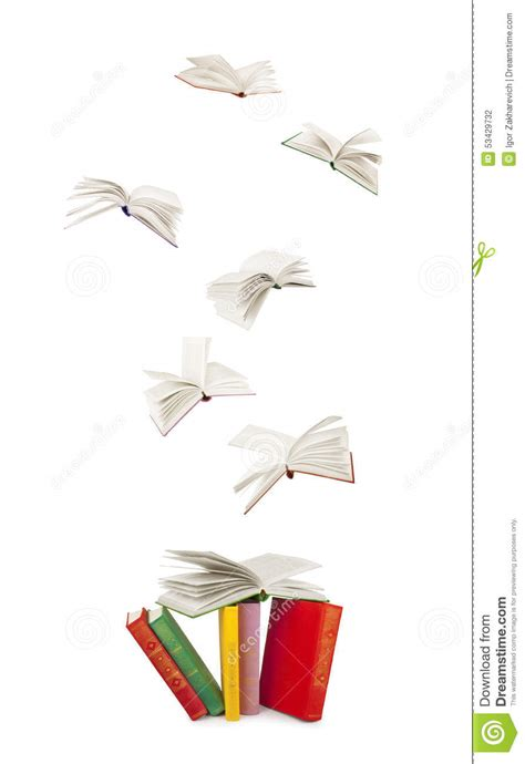 why time flies a mostly scientific investigation books stack of books and flying books stock photo image 53429732
