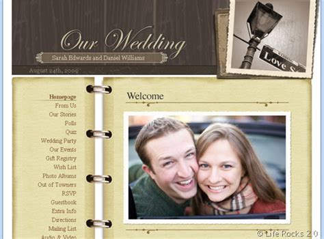 Create Free Wedding Website with eWedding