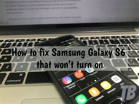 how to fix samsung galaxy s6 that won t turn on