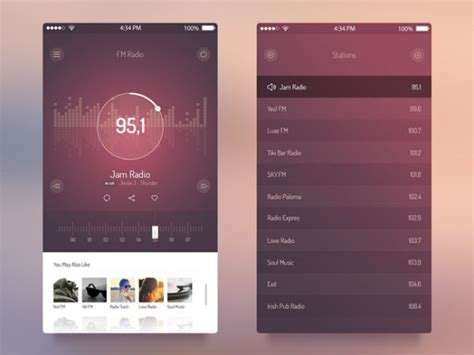10 creative mobile ui pattern libraries you need to know creative music app interface designs stockvault net blog