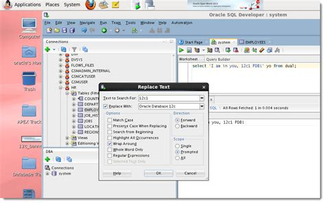 Oracle Sql Developer oracle sql developer 4 hit search and replace