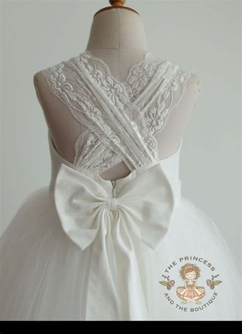 Dress White Tulle Flow flower dress ivory flower dress flower dresses tulle flower dress tutu