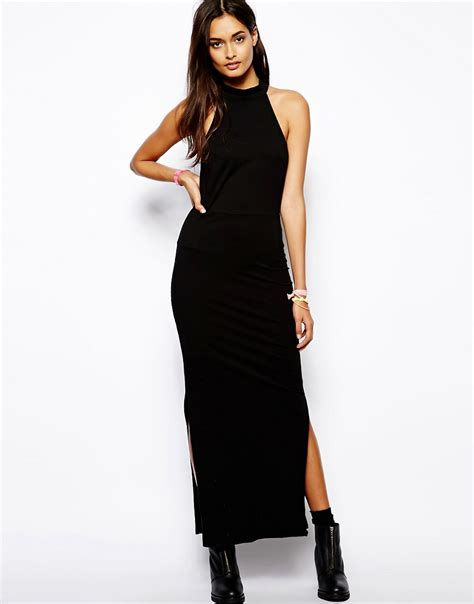 Halterneck Dress motel motel cally halterneck maxi dress at asos