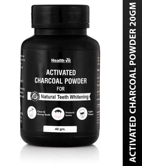 healthvit activated charcoal powder gm teeth whitening