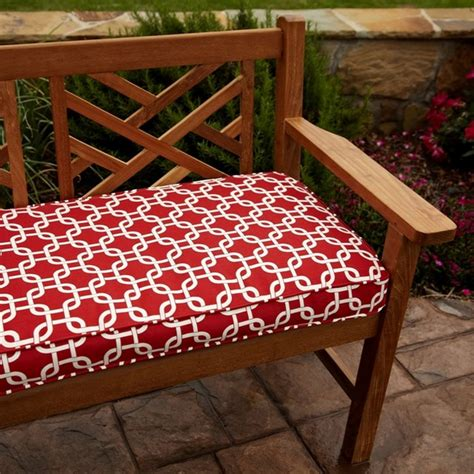 60 inch outdoor bench cushion penelope red 60 inch outdoor bench cushion contemporary