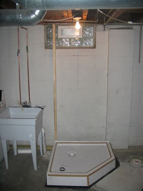basement bathtub installation basement shower plumbing diagram