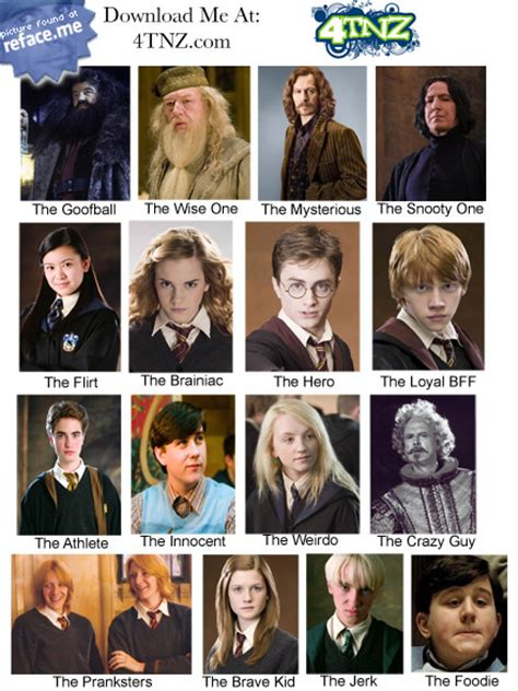 harry potter names pics for gt harry potter characters names