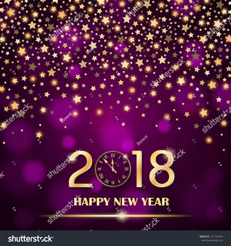 luxury new year abstract shining falling on purple stock vector