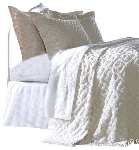 white tufted comforter diamond tufted chenille bedding set white twin